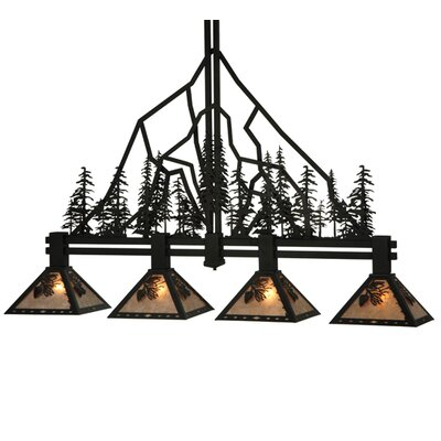Greenbriar Oak 4-Light Island Pendant