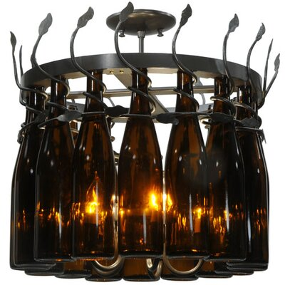 Greenbriar Oak 16-Light Drum Chandelier