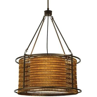 Greenbriar Oak Maille 4-Light Drum Pendant Size: 82 H x 24 W x 24 D