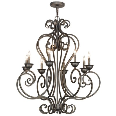 Greenbriar Oak 8-Light Candle-Style Chandelier