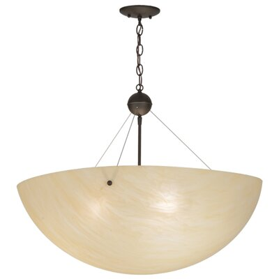 Greenbriar Oak Cypola 3-Light Inverted Pendant