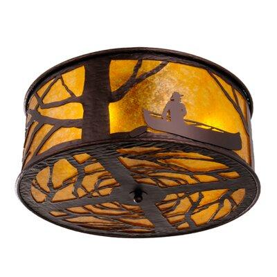 Greenbriar Oak 4-Light Flush Mount