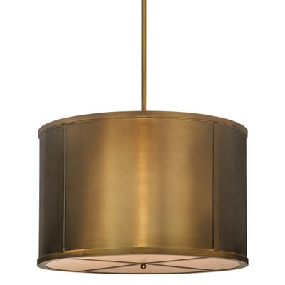 Greenbriar Oak 8-Light Drum Pendant