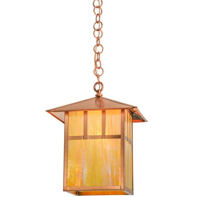 Greenbriar Oak Seneca Double Bar Mission 1-Light Mini Pendant