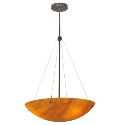 Greenbriar Oak 3-Light Inverted Pendant