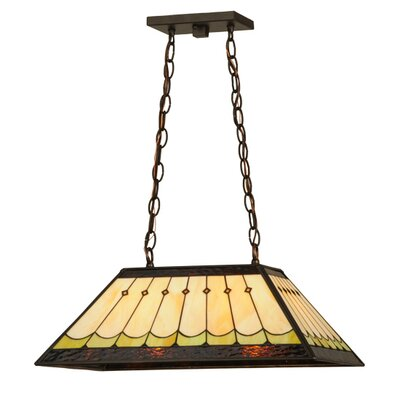 Greenbriar Oak Scallop 2-Light Pendant