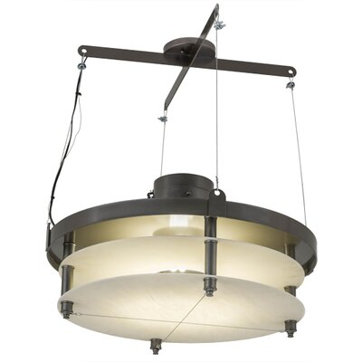 Greenbriar Oak 2-Light Drum Pendant