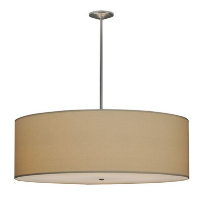 Greenbriar Oak Cilindro Natural Textrene 8-Light Drum Pendant