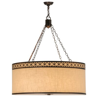 Greenbriar 8-Light Drum Pendant Size: 115 H x 36 W x 36 D