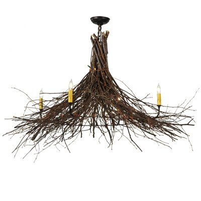 Greenbriar Oak 4-Light Candle-Style Chandelier