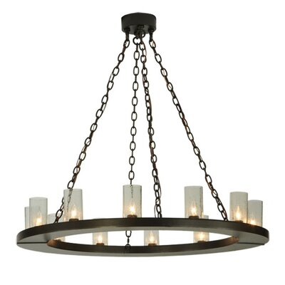 Greenbriar Oak Loxley 12-Light Candle-Style Chandelier