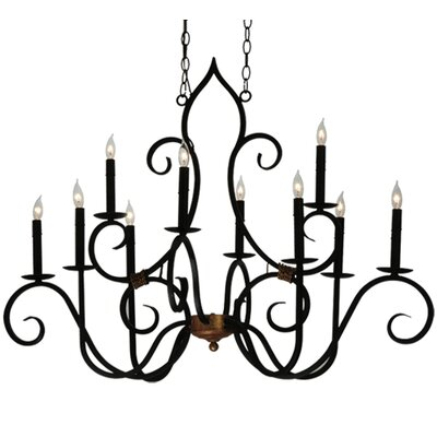 Greenbriar Oak Clifton 10-Light Candle-Style Chandelier