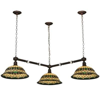 Greenbriar Oak Tiffany Roman 3-Light Island Pendant