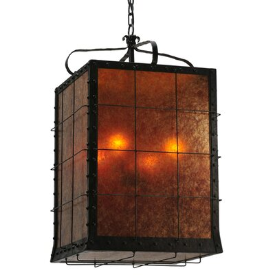 Greenbriar Oak Vostok 4-Light Foyer Pendant