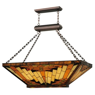 Greenbriar Oak 9-Light Inverted Pendant