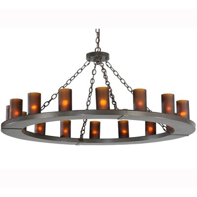 Greenbriar Oak 16-Light Candle-Style Chandelier