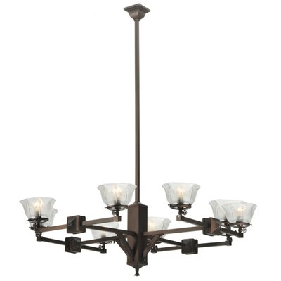 Greenbriar Oak 8-Light Shaded Chandelier