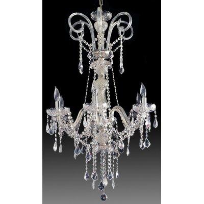 Greenbriar Oak Hollywood 6-Light Crystal Chandelier