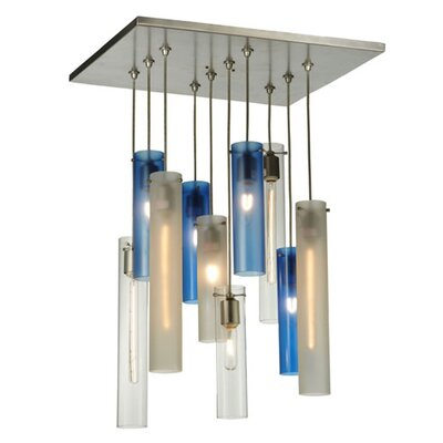 Greenbriar Oak Cilindro 10-Light Cascading Pendant