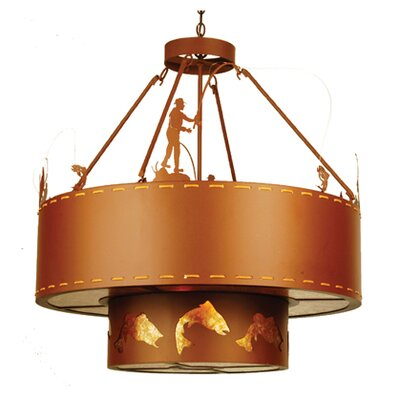 Fly Fishing Creek 8-Light Inverted Pendant