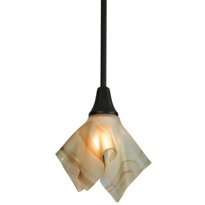 Metro Cognac Swirl Handkerchief 1-Light Mini Pendant