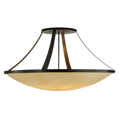 Greenbriar Oak 8-Light Semi-Flush Mount