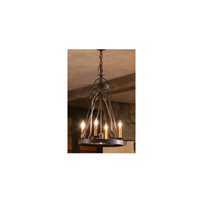 Greenbriar Oak Lakeshore 4-Light Candle-Style Chandelier