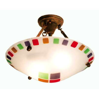 Metro Fusion Psychedelic Baby 2-Light Semi-Flush Mount