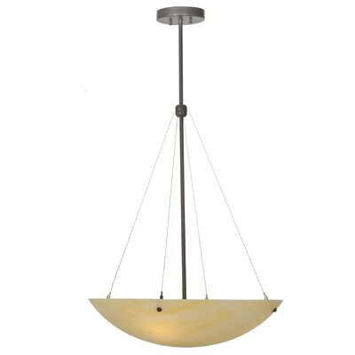 Greenbriar Oak Cypola Honey Onyx 3-Light Inverted Pendant