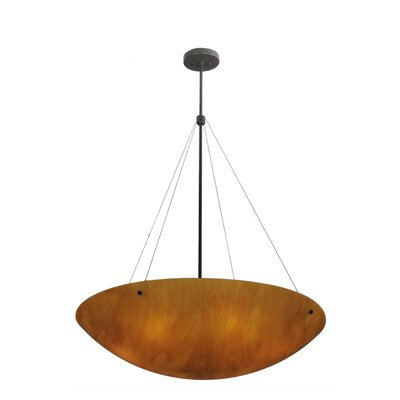 Greenbriar Oak Cypola New Mica Acrylic 6-Light Inverted Pendant