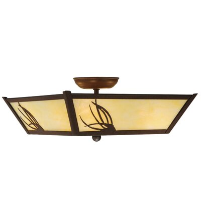 Mountain Pine 4-Light Semi Flush Mount