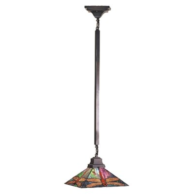Mission 1-Light Tiffany Pendant Size: 47 H x 10 W x 10 D