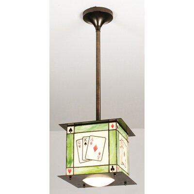 Recreation Texas HoldEm 1-Light Mini Pendant