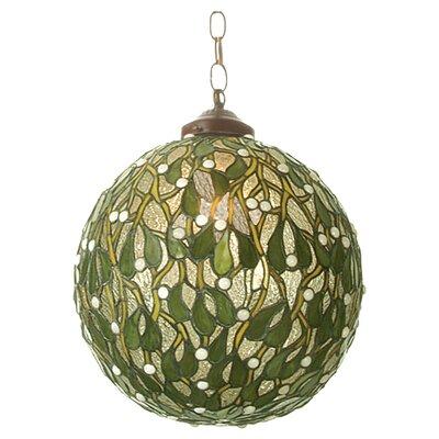 Mistletoe 1-Light Ball Globe Pendant