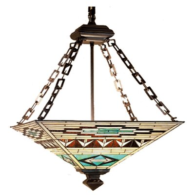 Mission Southwest Valencia 4-Light Inverted Pendant