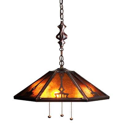 3-Light Bowl Pendant Size: 48 H x 18 W x 18 D