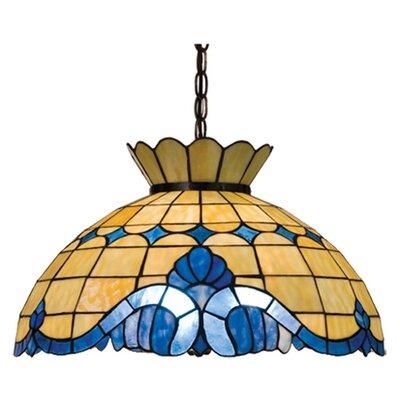Victorian Nouveau 3-Light Bowl Pendant