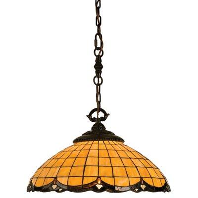 Victorian Art Glass Nouveau 1-Light Bowl Pendant