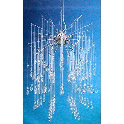 Euro Crystal 16-Light Cascade Pendant