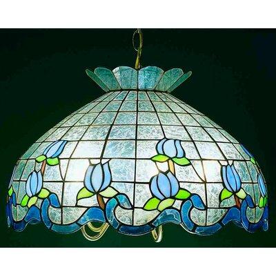 Roseborder Ice 5-Light Bowl Pendant Shade Color: Blue