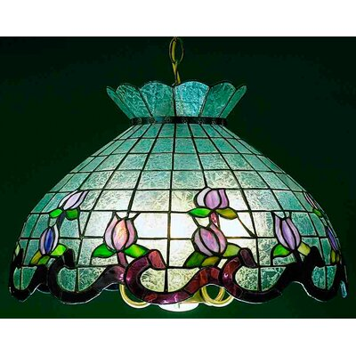 Roseborder Ice 5-Light Bowl Pendant Shade Color: Pink