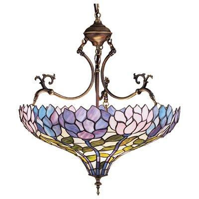 Tiffany Wisteria 3-Light Inverted Pendant