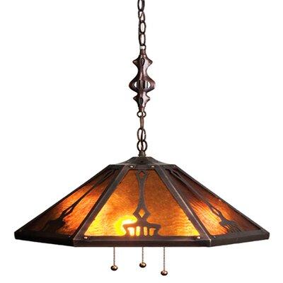 3-Light Bowl Pendant Size: 50 H x 21 W x 21 D