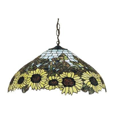 Wild 3-Light Sunflower Pendant