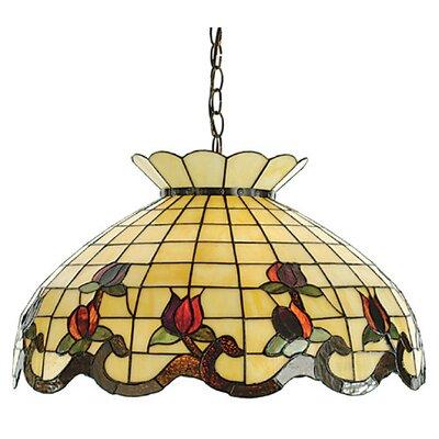 Victorian Tiffany 3-Light Roseborder Pendant