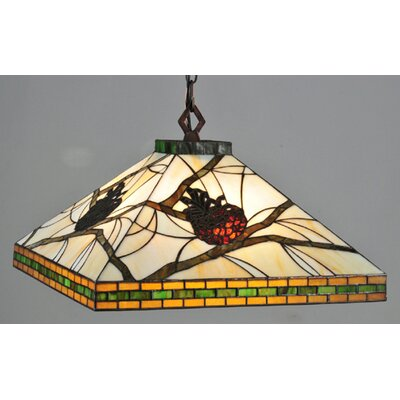 Mission Lodge Tiffany 4-Light Pool Table Light