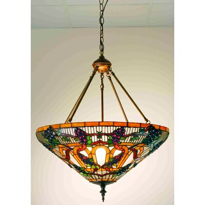 Tiffany 3-Light Inverted Pendant Size: 65 H x 24 W x 24 D