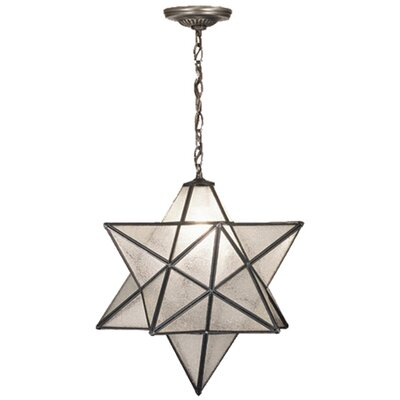 Lodge Arts and Crafts 1-Light Pendant Shade Color: Seedy