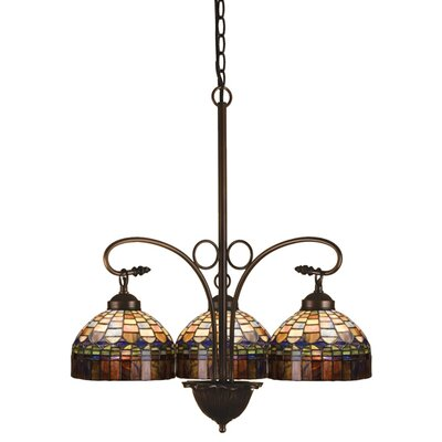 Victorian Tiffany Candice 3-Light Shaded Chandelier
