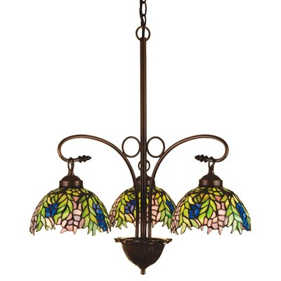 Tiffany Honey Locust 3 Light Chandelier